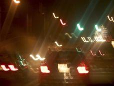 Nachtblind - verschwommene Autos