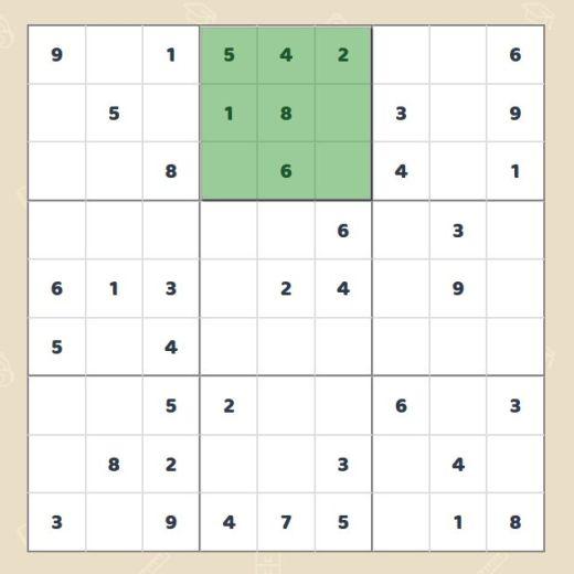 Sudoku: Spalten und Zeilen scannen